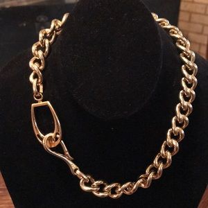 Chunky gold tone chain signed RL